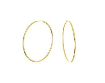 Medium 14K Gold Filled Endless Hoop Earrings