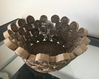 Handmade Recycled Around Basket