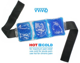 Reusable Hot and Cold Back Bead Brace | Adjustable Therapy Packs Universal Size | Headache & Migraine Relief Back Bead Strap | VViViD