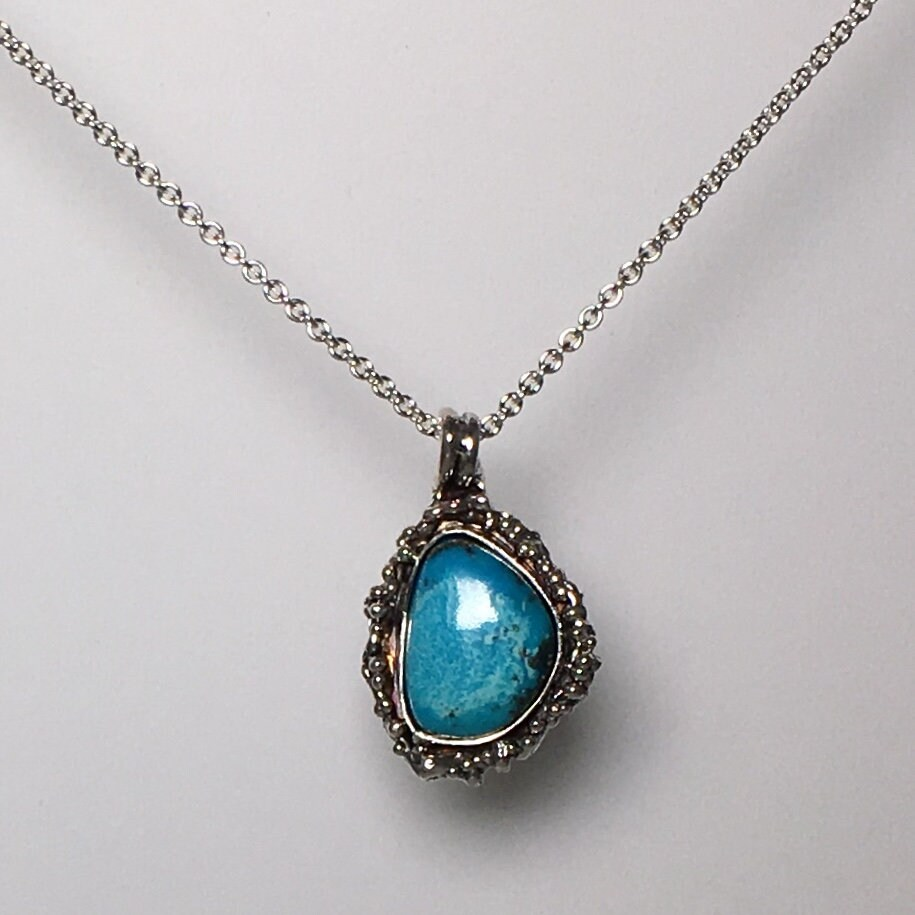 Turquoise pendant turquoise necklace sterling silver pendant turquoise pendant turquoise necklace sterling silver pendant gemstone necklace silver necklace moms gift mozeypictures Image collections