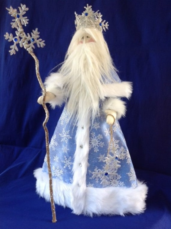 Old Man Winter - Cloth Doll E-Pattern Old Man Winter Santa Holiday Free Standing Stump Doll Art Doll