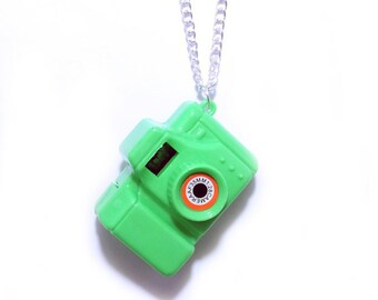 Toy Camera Necklace Bright Colours
