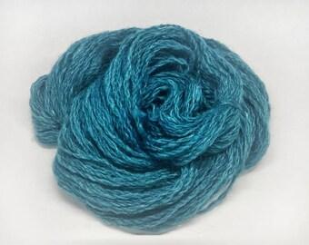 handspun, hand-dyed, custom blended yarn, 2 ounce skein, wool blend