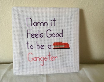 Office Space Cross Stitch - Gangster