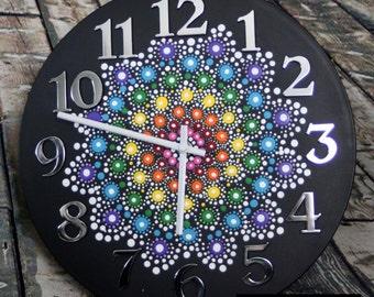 Jewel Drop Mandala Clock