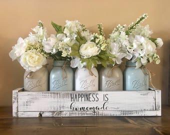 Mason jar centerpieces | Etsy