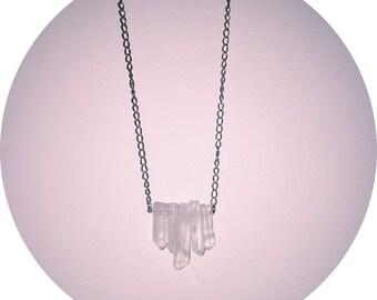 The Amelia - Crystal Quartz 5 Point Necklace