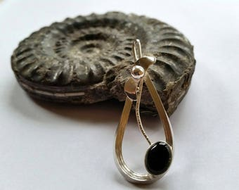 Whitby Jet 'black cherry' pendant