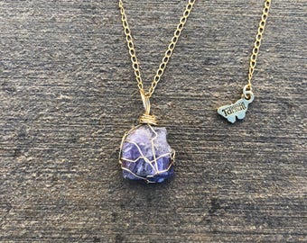 Wire-wrapped Tanzanite Necklace