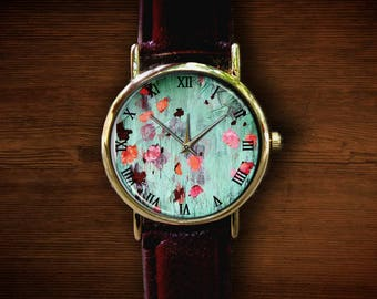 Happy Birthday Sign Watch Unisex Watch Leather Bracelet