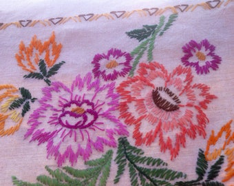 Vintage embroidery tablecloth. 1950's/1960's
