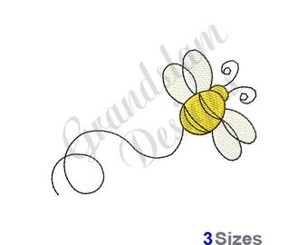 Flying Bee - Machine Embroidery Design