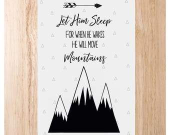 He will move mountains print