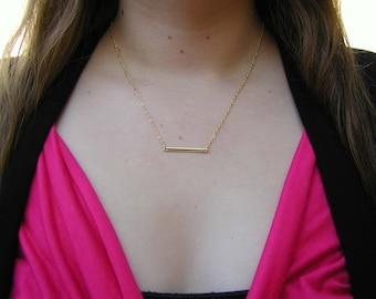 Rectangle pendant etsy rectangle necklace charm necklace tiny necklace delicate necklace gold bar necklace aloadofball Images