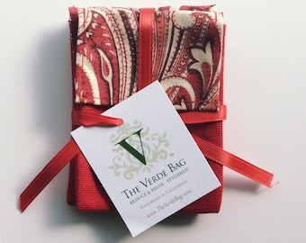 Red Paisley Gift Card Holders (3-pack)
