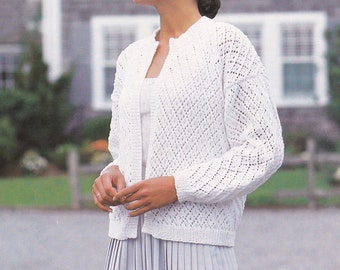 PDF vintage knitting pattern cardigan jacket pdf INSTANT download cardigan pattern only pdf