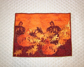 Quilt Table Topper Handmade for Coffee or Dinner Table Thanksgiving