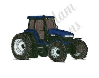 Farm Tractor - Machine Embroidery Design