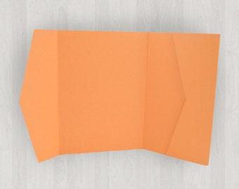 10 Horizontal Pocket Enclosures - Oranges - DIY Invitations - Invitation Enclosures for Weddings and Other Events