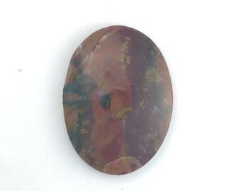 Petrified Fossil Wood Agate Semiprecious Gemstone Cabochon, Sunset Palette Agate Oval, Semi precious DIY Jewelry stone
