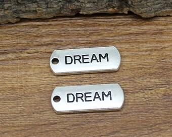 25pcs Antique Silver Dream Charms Pendant 21x8mm C2730-Y