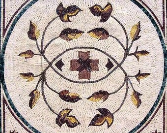 Flower Mosaic Square - Delia