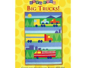 Big Trucks quilt sewing pattern
