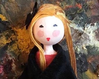 Ooak ginger haired art doll