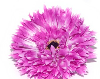 Fullest Lilac Purple or Violet Silk Daisy - Artificial Flowers, Silk Flower Heads