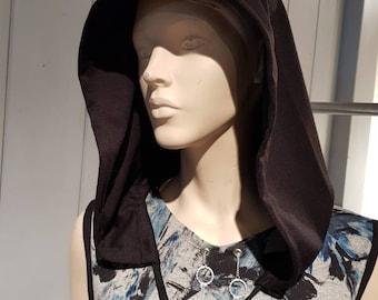Handmade black cap Sofya FDX