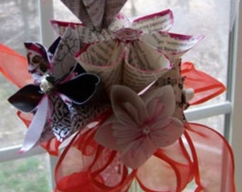 Steampunk Origami Bouquet Includes 6 Flowers