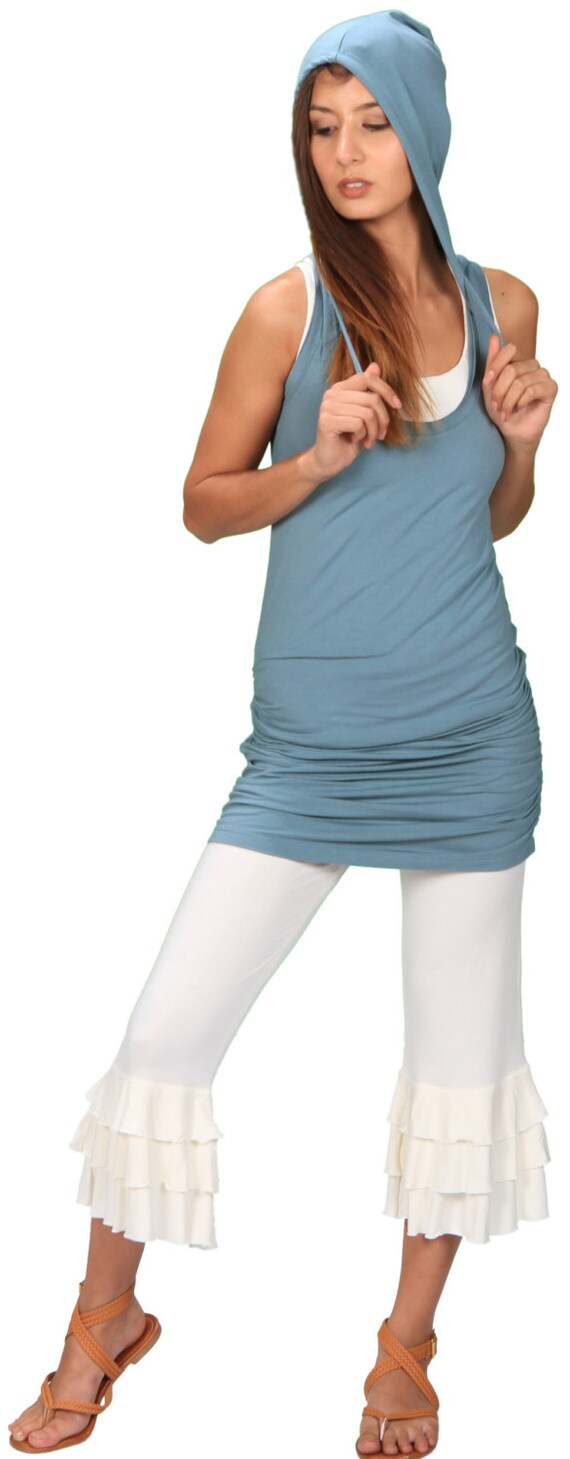 Faera Ruched Hoodie Dress in Ocean for Womens Fashion Festival Wear Yoga Wear Gift for her Wholesale