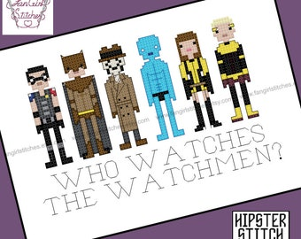 Watchmen themed cross stitch pattern - PDF pattern - INSTANT DOWNLOAD