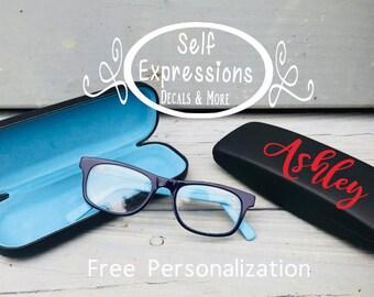 Eyeglass Hard Case // Name Monogrammed Personalized
