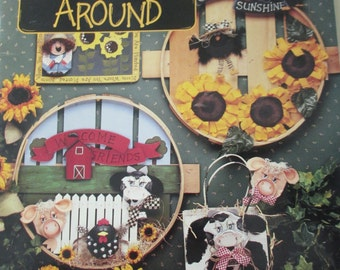 "K Vintage Tole painting Susan Scheewe Publications "" Second Time Around"" 1994 used booklet 82  pages"