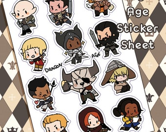 Dragon Age Inquisition Sticker 5x6 Sheet