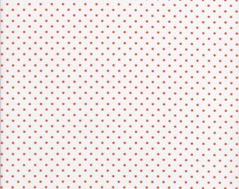 Orange Swiss Dot Fabric - Orange Polka Dots - Polka Dot Fabric - Orange Swiss Dots by Riley Blake
