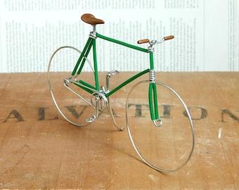 Green Fixed Gear Wire Bike
