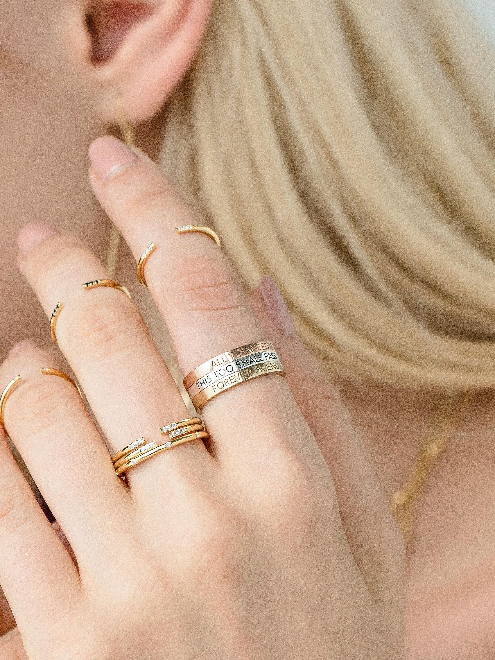 jewels claire a layering blog with bridal june entwine layered diamond rose of dot bride infini gold stacking our wears aristides rings ring hello fine perle including