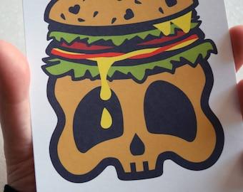 Skull Burger Art Print