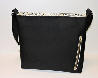 Black Concealed Carry Crossbody/Women's CCW Purse/Concealed Carry Handbag