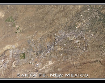 Santa Fe New Mexico Satellite Poster Map