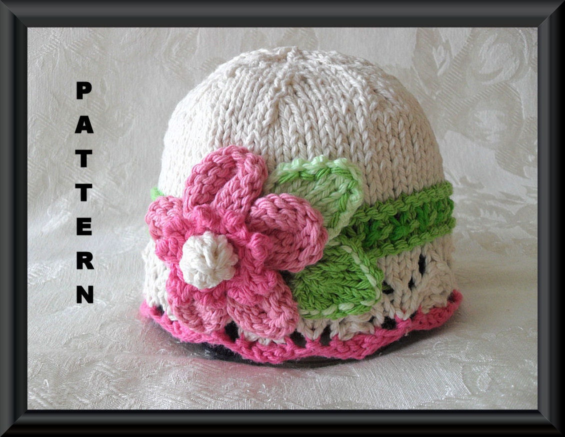 Knitted Baby Hat Pattern Newborn Hat Pattern Infant Hat Pattern ...