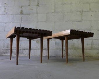 Mid Century Modern SLAT BENCH / Coffee TABLE