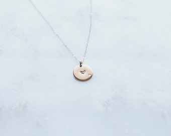 In Love Necklace / Gold Heart Necklace/ Gifts for Her / Anniversary Gift