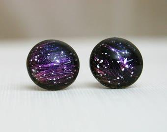Deep Space - Color Changing - Stainless Steel Stud Earrings - Nebula Earrings