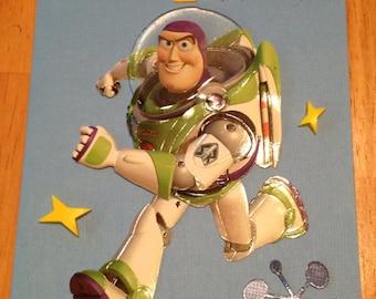Buzz lightyear 4th Birthday card