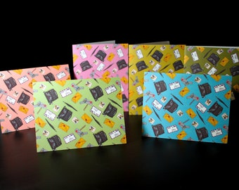 "6 Pack NON-GLOSSY 5.5""x4"" (matte) Pen Pal Mix Greeting Cards"