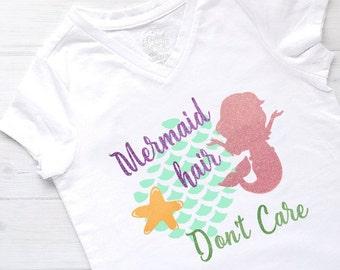 Mermaid Hair Dont Care, Little Mermaid, Mermaid Life, Mermaid Shirt, Girls Mermaid Shirt, Girls Tshirt, Toddler Tshirt, Baby Bodysuit, Girls