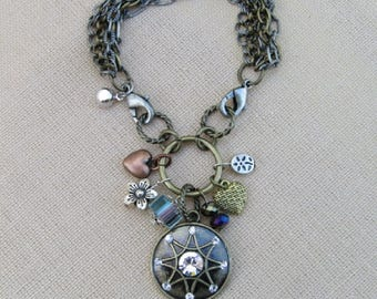 Multi-Chain Bracelet with Assorted Charms